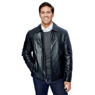 Men's Lamb Leather Open Bottom Jacket with Self Belted Back (More options available)