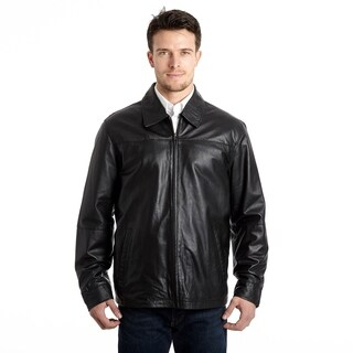 Men's Lamb Leather Open Bottom Jacket with Self Belted Back|https://ak1.ostkcdn.com/images/products/9310253/P16471383.jpg?_ostk_perf_=percv&impolicy=medium