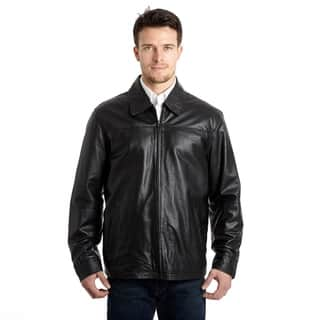 Men's Lamb Leather Open Bottom Jacket with Self Belted Back|https://ak1.ostkcdn.com/images/products/9310253/P16471383.jpg?impolicy=medium