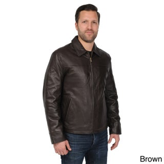 EXcelled Men's Big and Tall Black New Zealand Lambskin Leather Jacket (2 options available)