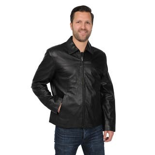 EXcelled Men's Big and Tall Black New Zealand Lambskin Leather Jacket|https://ak1.ostkcdn.com/images/products/9310254/P16471384.jpg?impolicy=medium