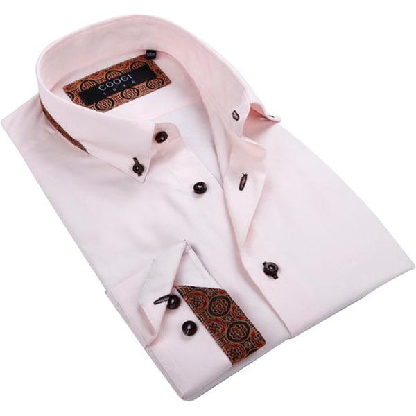 Coogi Luxe Men 39 S Light Pink Button Down Shirt Free