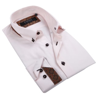 Coogi Luxe Men's Light Pink Button-down Shirt