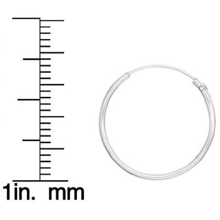 Sterling Essentials Silver 0.7-inch Skinny Tube Hoop Earrings