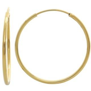 Sterling Essentials Silver 0.7-inch Skinny Tube Hoop Earrings