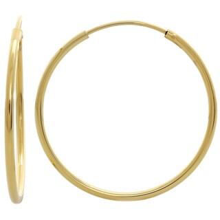 Sterling Essentials Silver 1-inch Skinny Tube Hoop Earrings