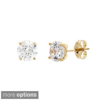 Sterling Essentials Sterling Silver Round-cut Cubic Zirconia Earrings