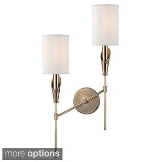 Hudson Valley Tate 2 Light Left Wall Sconce