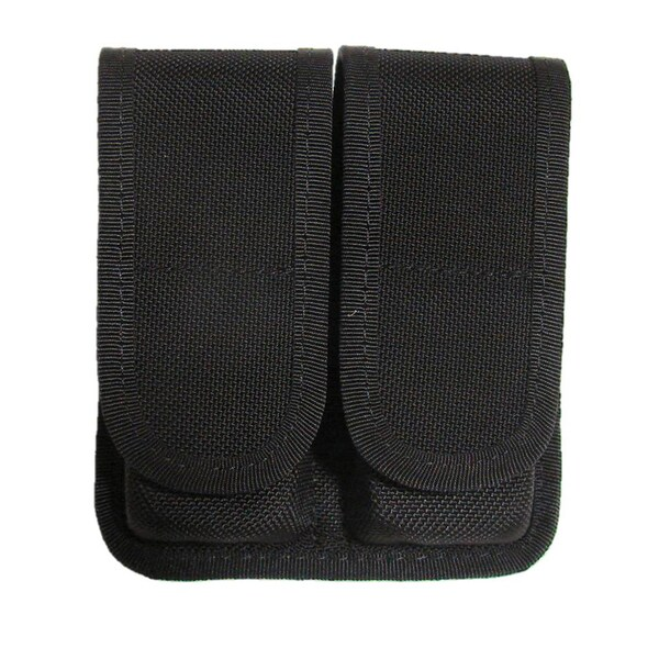 Tacprogear Black Double Pistol Single Row Magazine Case