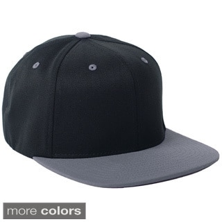 Flexfit Wool Blend Flat Bill Two-tone Baseball Cap