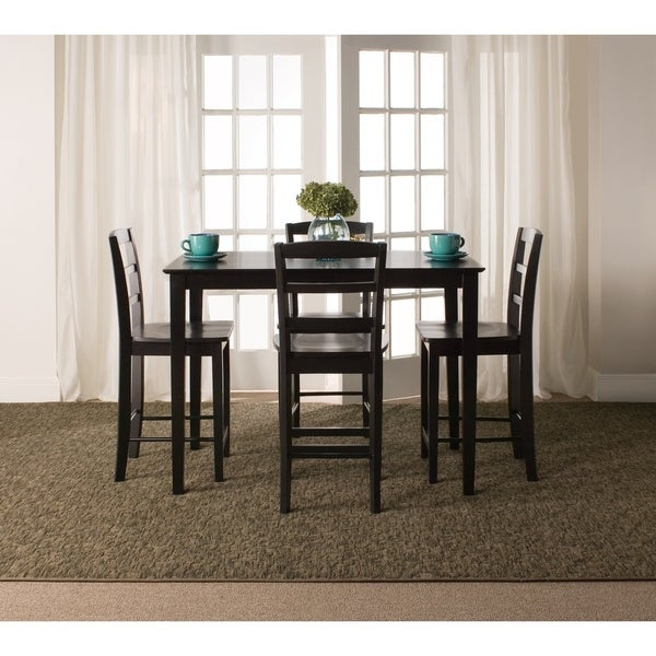 Shop Madrid 30-inch Black Counter Height 5-piece Dining