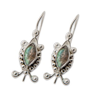 Sitara Silverplated Labradorite Dangling Earrings (India)