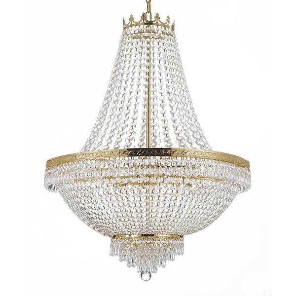 Gallery Empire Crystal 14-light Gold Chandelier - Free Shipping Today ...