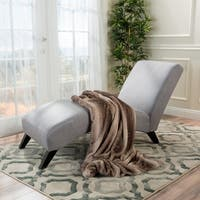 Finlay Fabric Chaise Lounge by Christopher Knight Home