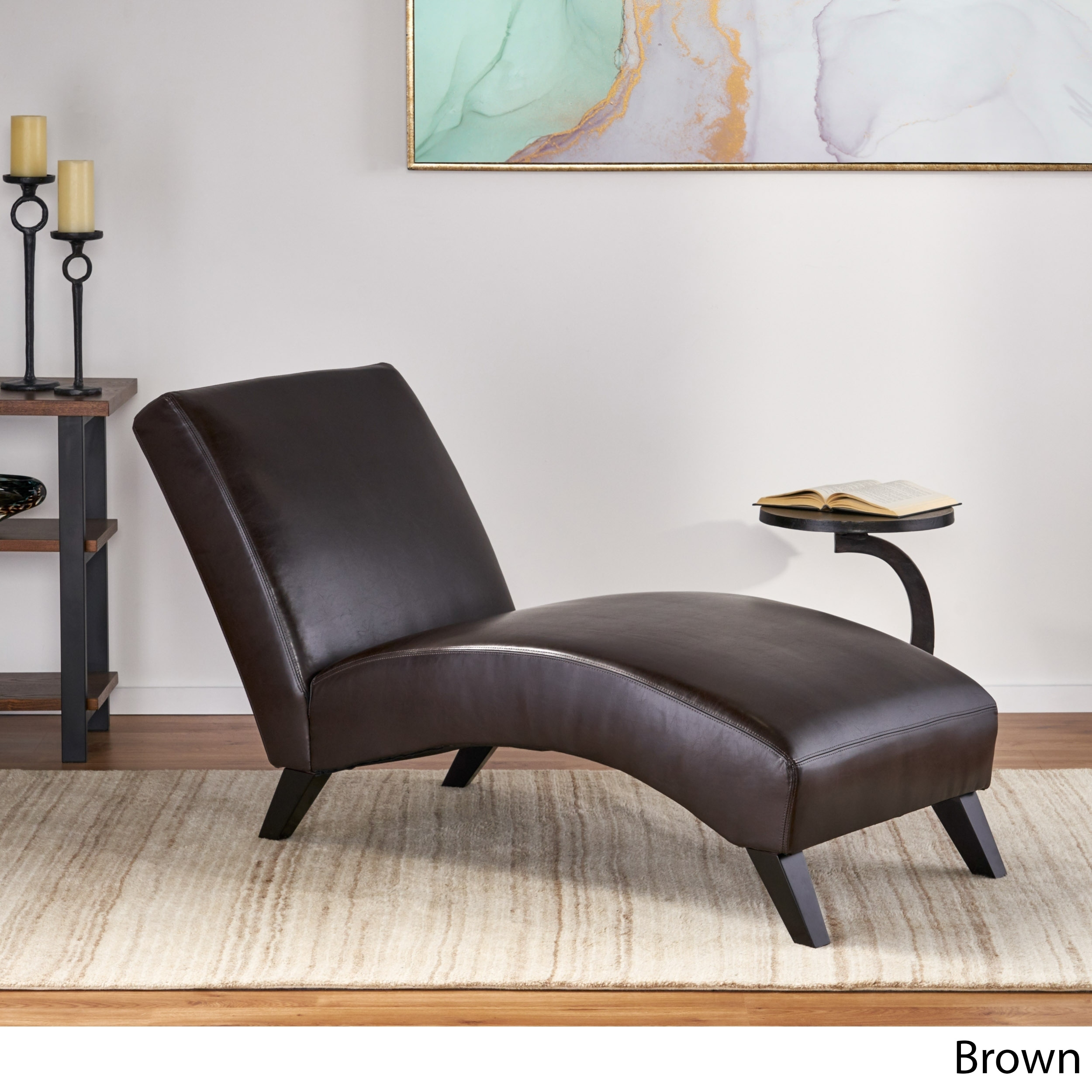 Shop Black Friday Deals On Finlay Leather Chaise Lounge By Christopher Knight Home On Sale Overstock 9310617