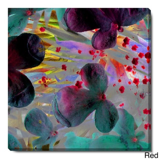 Studio Works Modern 'Party Flowers' Fine Art Gallery Wrapped Canvas