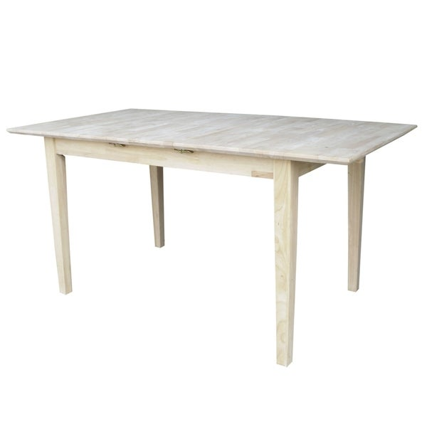 32 inch wide dining table room tables overstock international concepts 32inch wide unfinished shaker style parawood dining table with butterfly extension shop