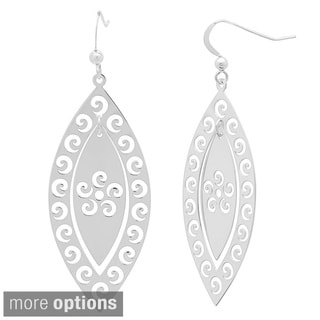 Sterling Essentials 14k Gold Plated Silver Waves Dangle Earrings