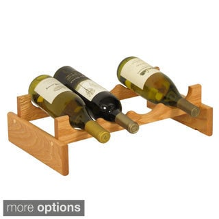The Gray Barn Mistwood 4-bottle Stackable Wood Wine Rack