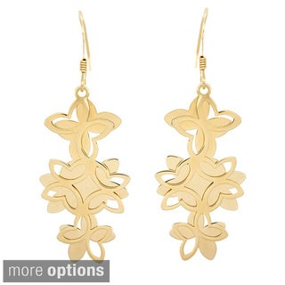 Sterling Essentials 14k Goldplated Silver Butterfly Earrings