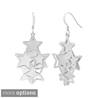 Sterling Essentials 14k Goldplated Silver Star Dangle Earrings