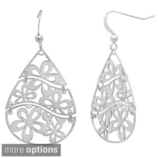Sterling Essentials 14k Goldplated Silver 3-piece Floral Cut-out Dangle Earrings