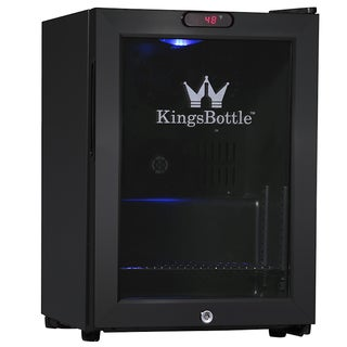 KingsBottle Black 38-can Compressor Mini Bar Fridge
