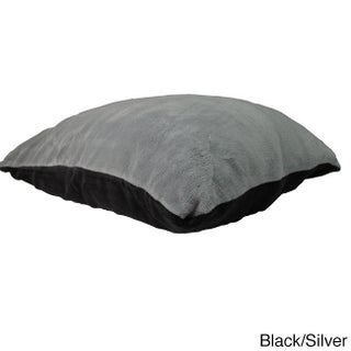 Oversized Plush Reversible Floor Cushion (28 x 36 inches) (Option: Black/Silver)