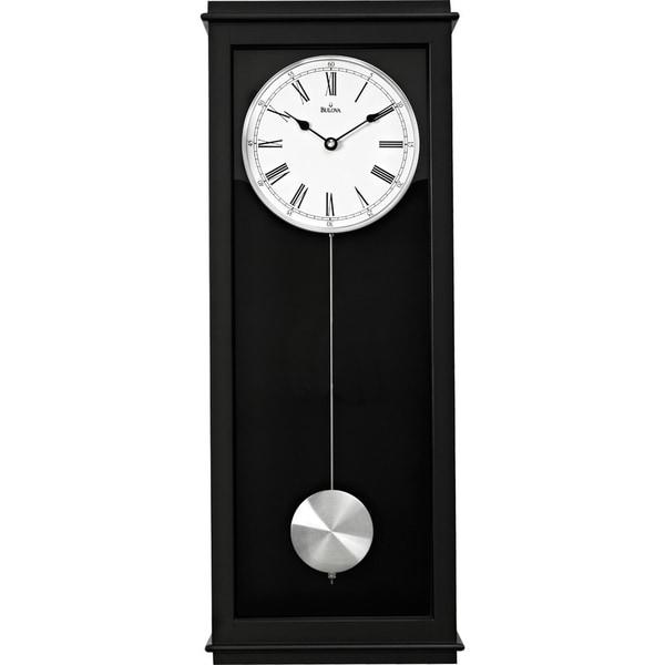 bulova vision chiming pendulum wall clock free shipping