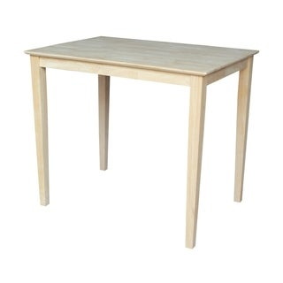 Unfinished Counter Height Rectangular Parawood Dining Table