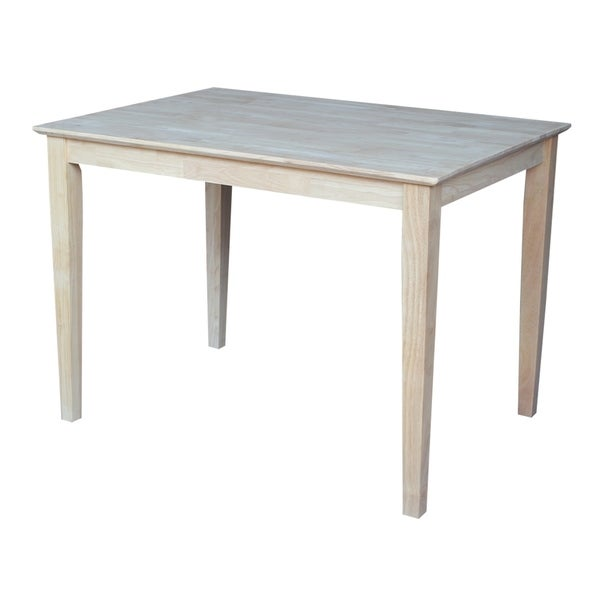 Awesome International Concepts Unfinished Shaker Style Rectangular Parawood Dining  Table