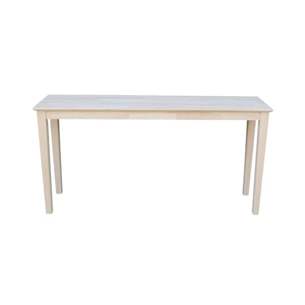 New Unfinished Shaker Extended Length Console Table - Free Shipping  EQ09