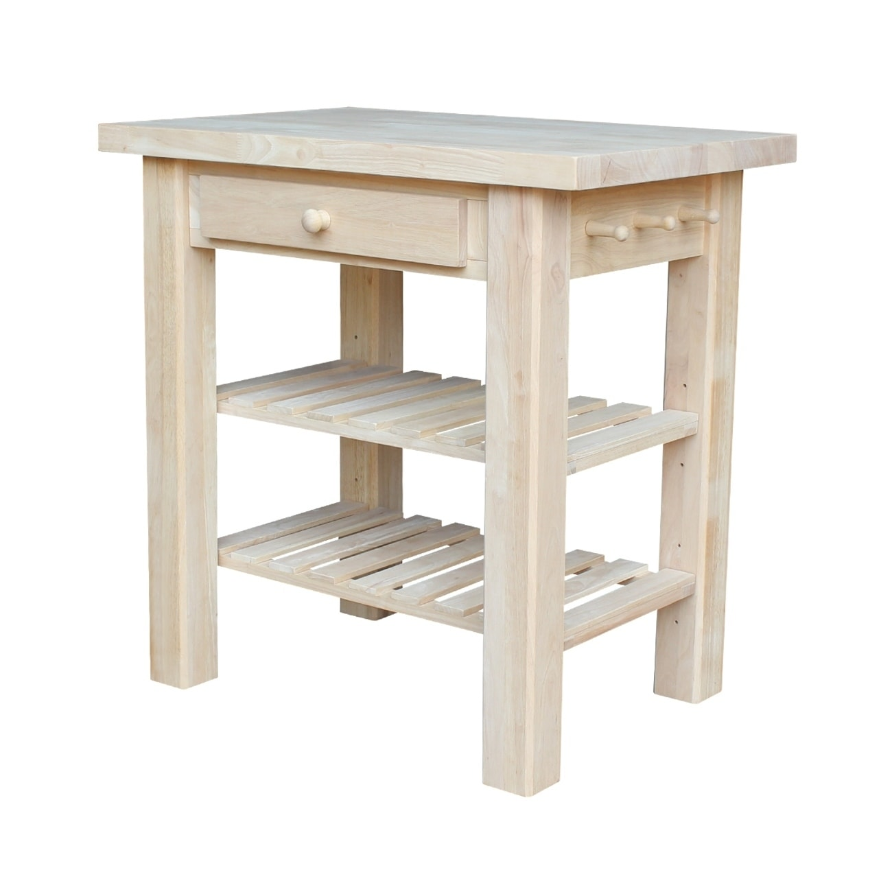 Unfinished Kitchen Island: Shop Gracewood Hollow Harry Unfinished Solid Parawood