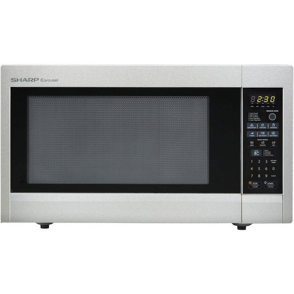 Countertop Microwave Stainless Steel Review : Sharp Stainless Steel Countertop Microwave - Free Shipping Today ...