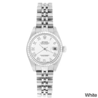 Pre-owned Rolex Women's 69174 Datejust Jubilee Bracelet Watch (Option: White Roman)
