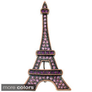 Base Metal Cubic Zirconia Paris Eiffel Tower Brooch