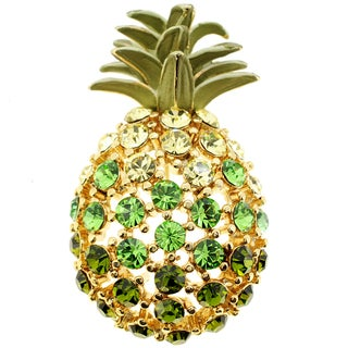 Cubic Zirconia Pineapple Pin Brooch