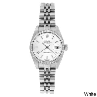 Pre-owned Rolex Women's 69174 Datejust Jubilee Watch (Option: White Stick)