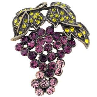Crystal Grape Pin Brooch
