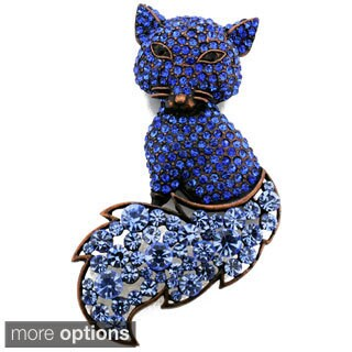 Cubic Zirconia Fox Animal Pin Brooch (2 options available)