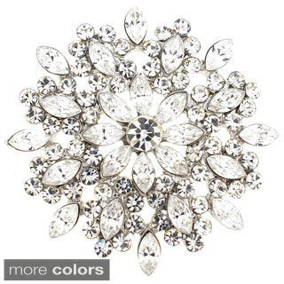 Cubic Zirconia Flower Wedding Pin Brooch (2 options available)