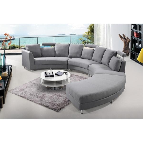 Velago Rossini Round Fabric Sectional Sofa
