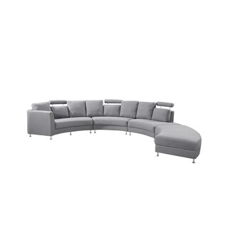 Velago Rossini Round Fabric Sectional Sofa