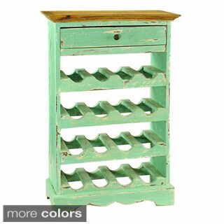 Auburn Single-drawer 16-bottle Wine Cabinet