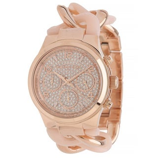 Michael Kors Women's Runway MK4283 Goldtone Stainless Steel Quartz Watch