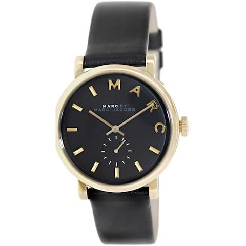 Marc By Marc Jacobs Women's Baker MBM1269 Black Leather Swiss Quartz Watch