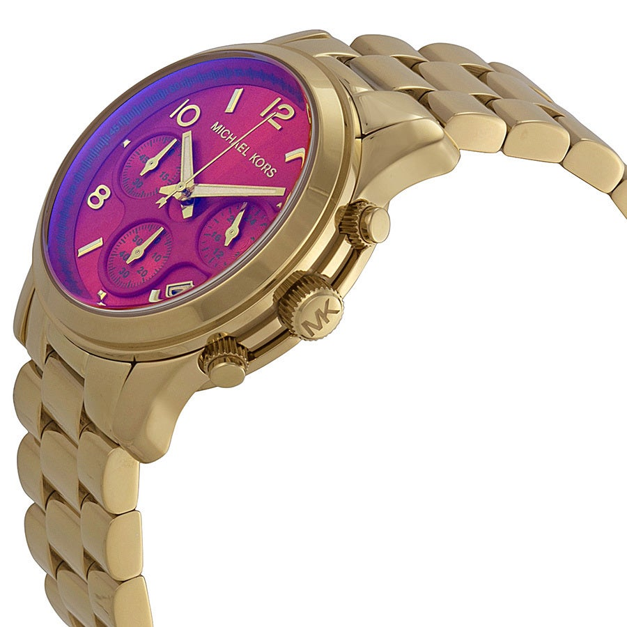 Michael Kors Womens Runway MK5939 Goldtone Stainless Steel Quartz Watch - Gold MK5939