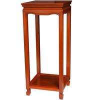 Handmade Square Oriental Plant Stand (China)