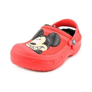 Crocs Boy (Youth) 'Creative Crocs Mickey Mouse & Goofy Lined Clog' Man-Made Casual Shoes (Size 1 )