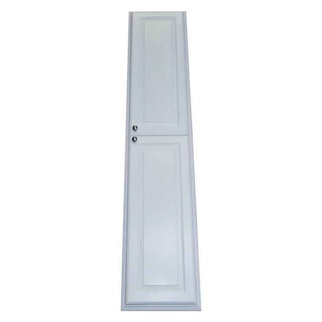 WG Wood Products 66-inch Recessed White Plantation Pantry...